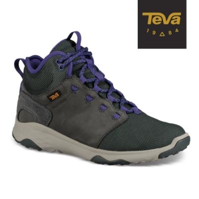 【TEVA】原廠貨 女 Arrowood Venture Mid WP 中筒防水牛皮機能休閒鞋/登山鞋(綠-TV1103270DSRC)