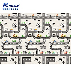 【PARKLON】韓國帕龍無毒地墊 - 單面切邊 - 車車軌道