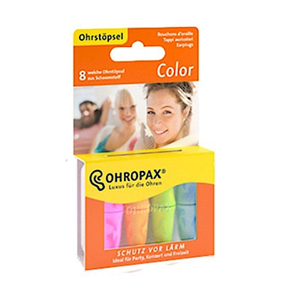 【Ohropax】CE歐盟認證 德國Ohropax Color隔音消音抗噪耳塞