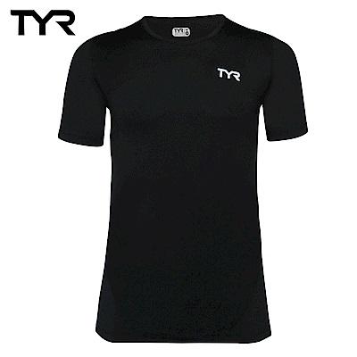 美國TYR 男款透氣排汗黑色短T Mens Running Tee 台灣總代理