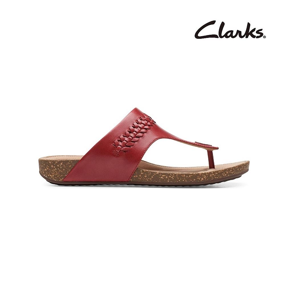 Clarks 街頭風尚 Un Perri Vibe 女涼拖鞋 紅色 CLF48697SS20