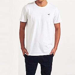 海鷗 Hollister HCO 經典刺繡標誌素面短袖T恤-白色
