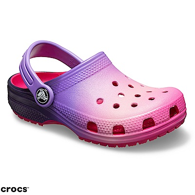 Crocs卡駱馳 (童鞋) 經典粉色漸層小克駱格 205432-6PD
