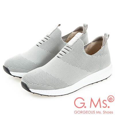 G.Ms. MIT系列-針織網布懶人休閒鞋-灰色