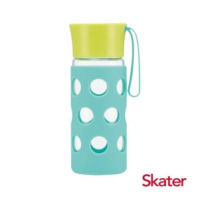 Skater玻璃隨行杯(含杯套)400ml 綠