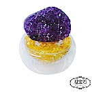 A1寶石  頂級晶鑽烏拉圭黃水晶補運聚寶盆開運招旺正財偏財(含開光)