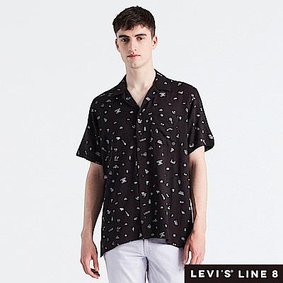 Levis 男女同款 短袖襯衫 滿版印花 單口袋