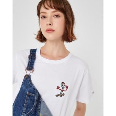 CACO-MIT 叉奇電繡短T-情侶款-女【TDI140】