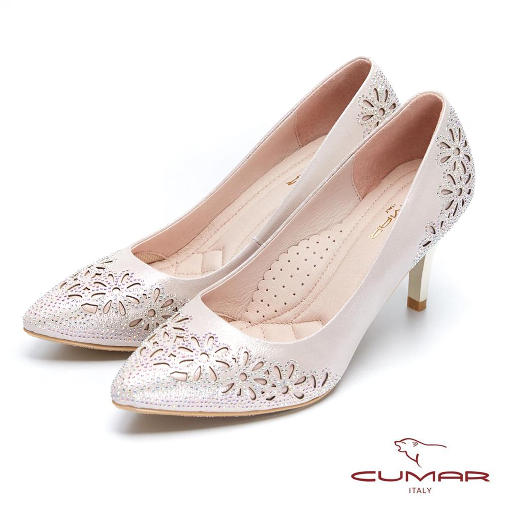 【CUMAR】璀璨閃耀-鏤空水鑽點綴高跟鞋
