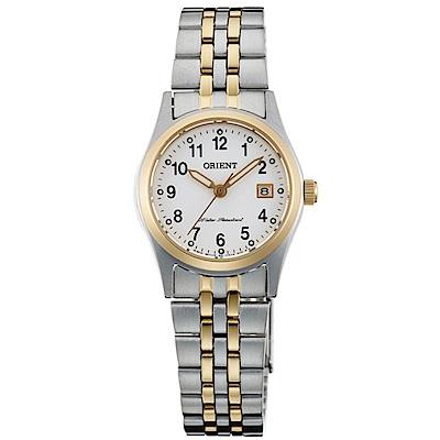 ORIENT東方錶 優雅金選數字時標藍寶石石英女錶(FSZ46005W0)-白x24mm