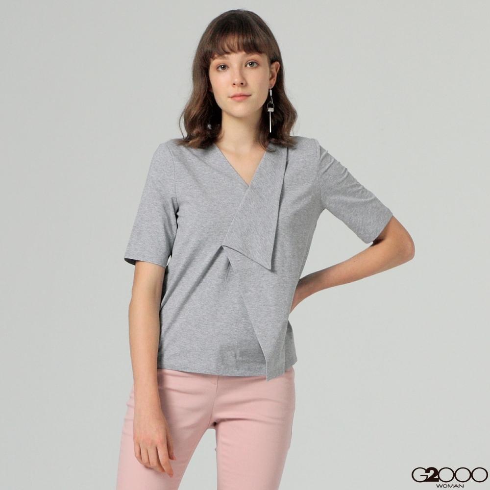 G2000素面短袖休閒T恤-灰色