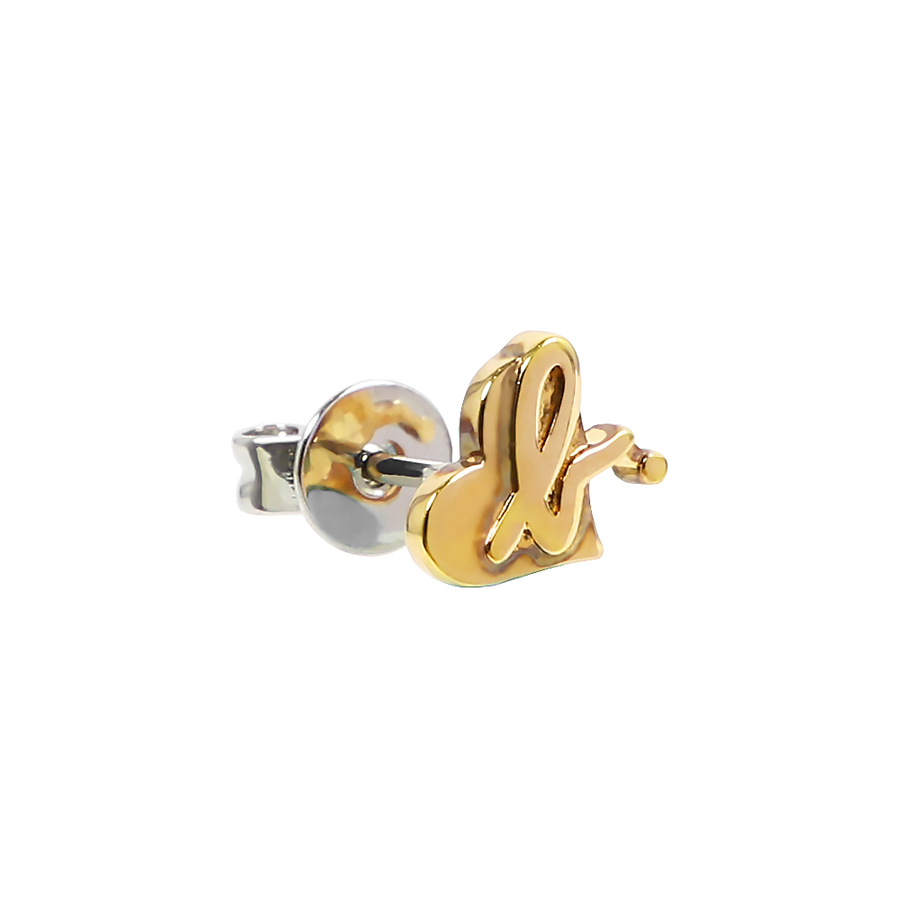 agnes b. 簡約針式耳環(金/1支)