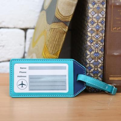 【百貨週年慶暖身 全館5折起-生活工場】藍蘊皮質行李吊牌