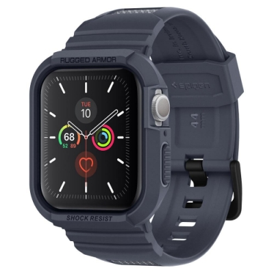 SGP / Spigen Apple Watch Series 6/SE/5/4 (44mm) Rugged Armor Pro 含錶帶防摔保護殼-木炭