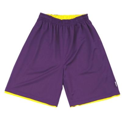 【FIVE UP】男款雙面穿吸排籃球褲-紫