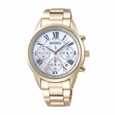 SEIKO LUKIA優雅甜美太陽能腕錶V175-0EX0G/SSC822J1