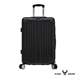RAIN DEER 米克斯24吋ABS鑽石紋防刮行李箱-經典黑