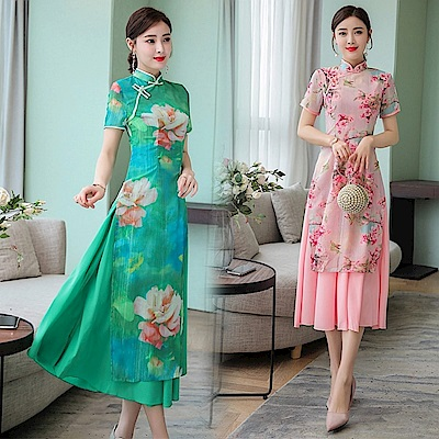 復古中國風時尚年輕款旗袍M-3XL(共兩色)-REKO