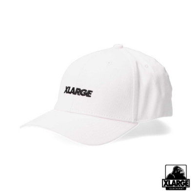 XLARGE EMBROIDERY STANDARD LOGO 6PANEL CAP棒球帽-白