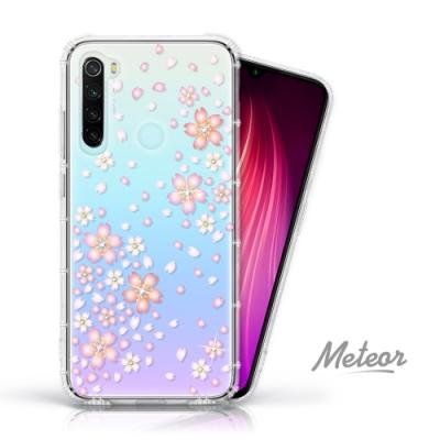 Meteor MI 紅米 Note 8 奧地利水鑽殼 - 櫻花