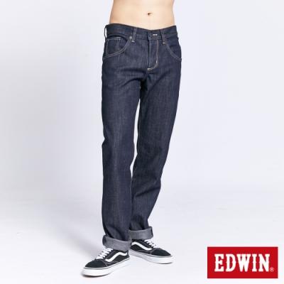 EDWIN 503 BLUE TRIP 保溫款 中直筒牛仔褲-男-原藍色