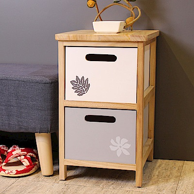 Asllie簡約二抽收納櫃/床頭櫃/隙縫櫃/邊櫃(免組裝)