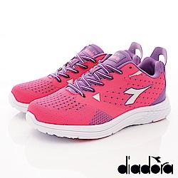 DIADORA-針織緩震時尚跑鞋款 SI862桃(女段)