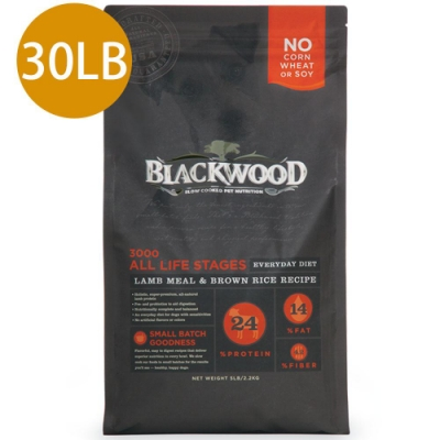 Blackwood柏萊富-特調全齡犬配方(羊肉+糙米+雞肉)30LB