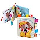JoyNa嬰兒床床圍益智認知撕不破小狗寶寶學習書