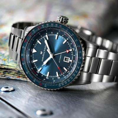 Hamilton 漢米爾頓 Khaki 航空飛行機械錶(H76715140)44mm
