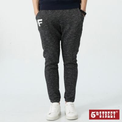 5th STREET 運動棉質 縮口休閒褲-男-暗灰色