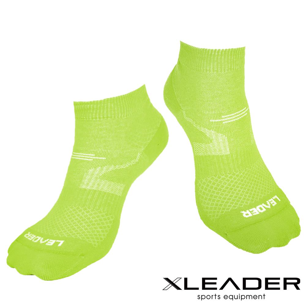 LEADER 運動專用薄型除臭機能襪 女款 亮綠