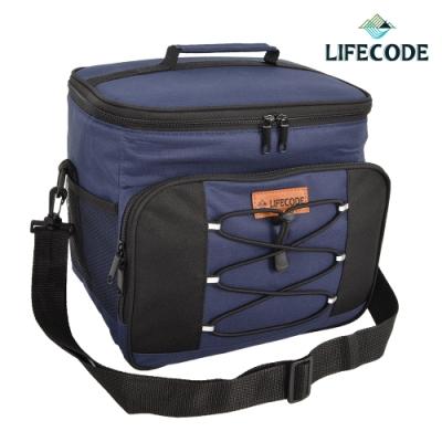 LIFECODE 歐風保冰袋/保溫袋 /保冷袋(15L)-藏青色
