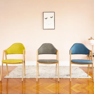 完美主義 簡約靠背餐椅/楓木椅/電腦椅/化妝椅-2入組(3色)