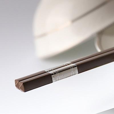 帝寶聚合金筷5入-咖啡3