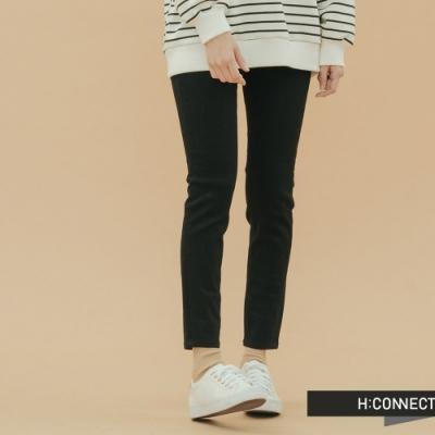 H:CONNECT 韓國品牌 女裝-微彈素面合身長褲-黑