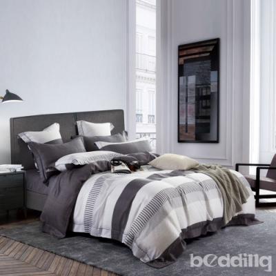 BEDDING-100%天絲三件式枕套床包組-辛夷-加大