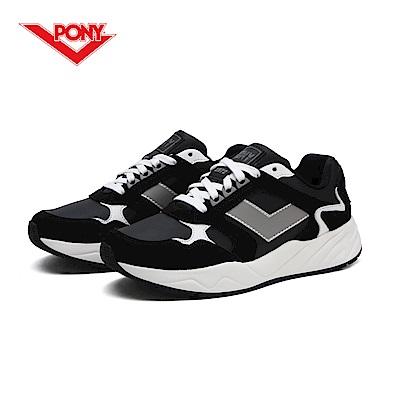 【PONY】Modern 復古風格饅頭/老爹鞋款-女-黑