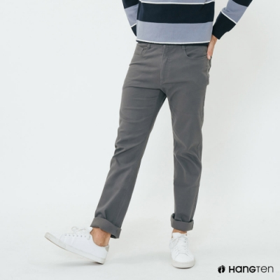 Hang Ten - 男裝 - 純色雙口袋休閒長褲 - 灰