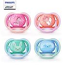 PHILIPS AVENT 超透氣矽膠安撫奶嘴 6-18M 粉紫/綠藍 SCF344/23