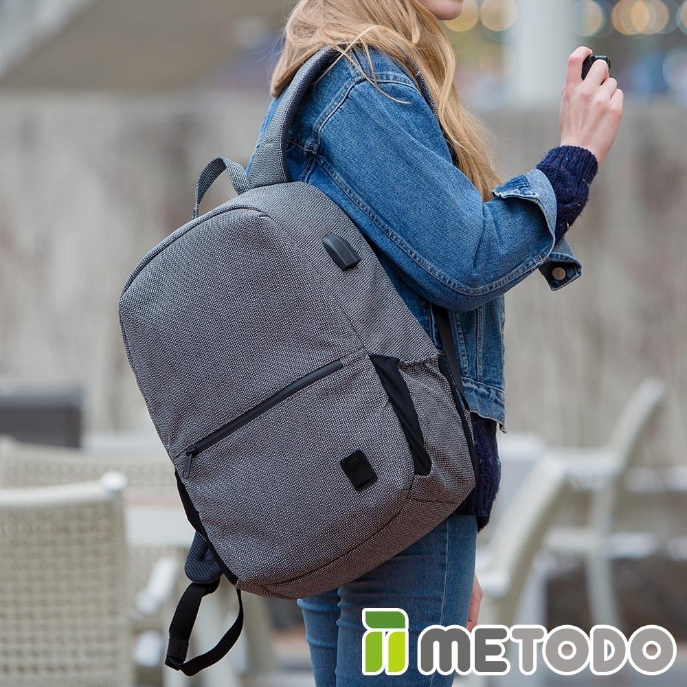 【METODO防盜包】Backpack L 不怕割後背包TSL-206黑/耐磨防潑水/旅遊包/休閒包/商務包