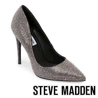 STEVE MADDEN-DAISIE 素面尖頭高跟鞋-鐵色