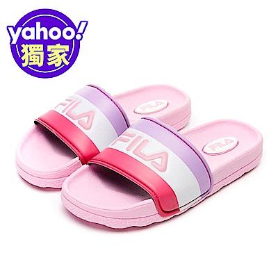FILA KIDS 大童CPU運動拖鞋-粉 3-S419V-551
