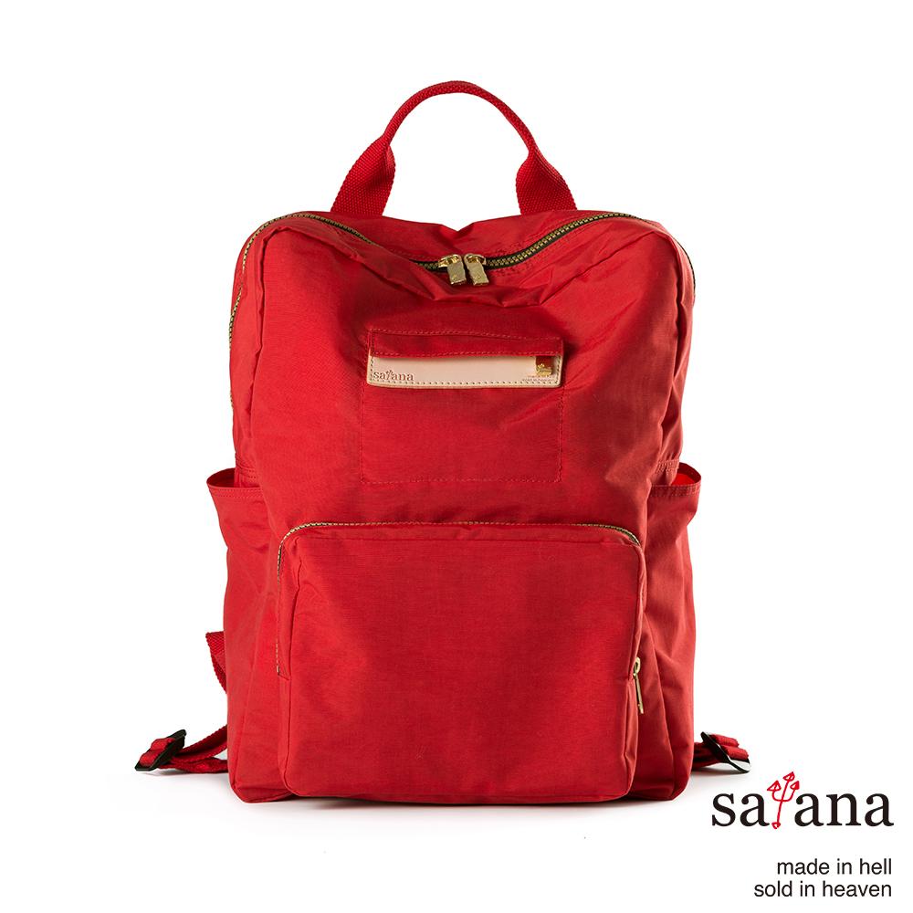 satana - 極簡摺疊後背包 - 中國紅
