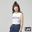Lee 背心 數位幾何透視logo印刷 白 女
