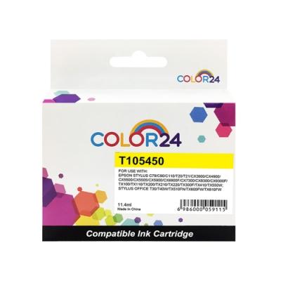 【Color24】for Epson NO.73N T105450 黃色相容墨水匣/適用 Stylus C79/C90/C110/T20/T21/CX3900/CX4900/CX5500/CX5505