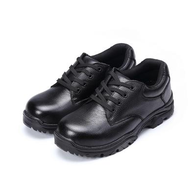 COMBAT艾樂跑男鞋-綁帶式皮質工作鞋-黑(FA589)