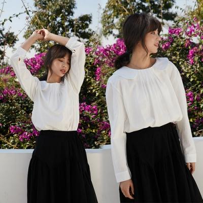 【韓國K.W.】(預購)典藏優雅甜美花彩上衣-1色
