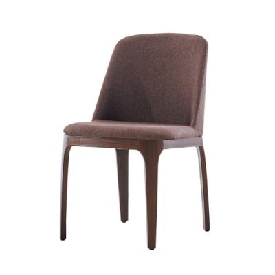 MUNA 安利革棕胡桃色餐椅/休閒椅(4入) 48X61X80cm