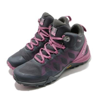 Merrell 戶外鞋 Siren 3 Mid GTX 運動 女鞋 登山 越野 耐磨 黃金大底 防潑水 中筒 灰 粉 ML035516